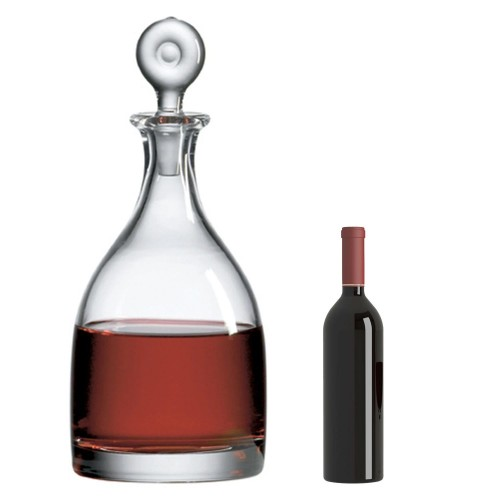 Monticello Salmanazar Decanter with Free Microfiber Cleaning Cloth